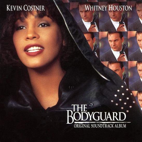 The Bodyguard Original Soundtrack - Album Cover - Featuring Curtis Stigers