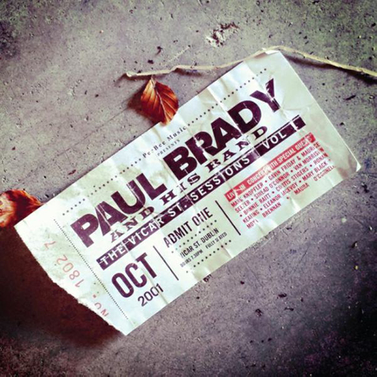The Vicar St. Sessions Vol. 1 - Paul Brady - Album Cover - Featuring Curtis Stigers